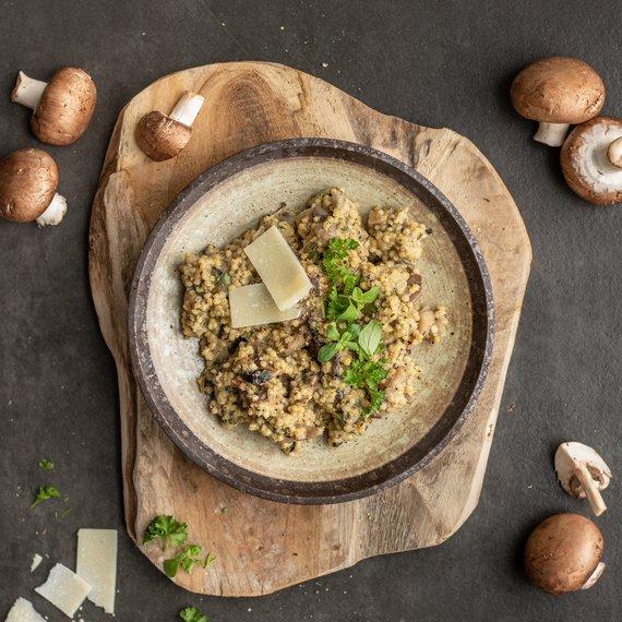 Jáhlové rizoto s houbami