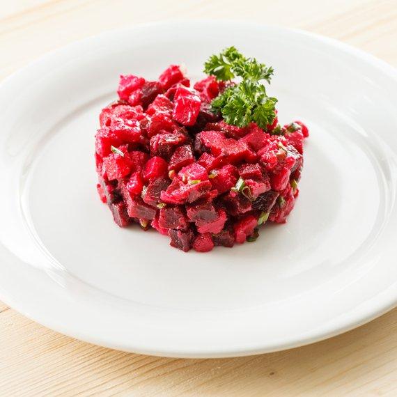 Šťouchané brambory s červenou řepou