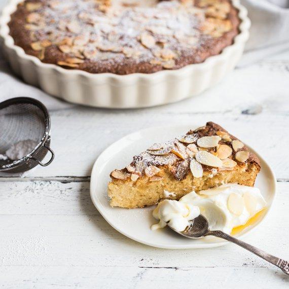 Bezlepkový mandlový koláč