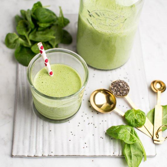 Zelené špenátové smoothie