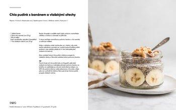 Chia pudink s banánem a vlašskými ořechy