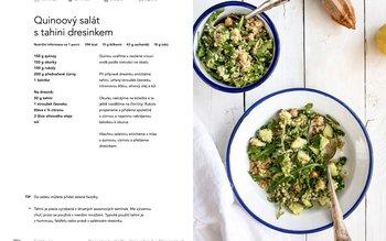 Quinoový salát s tahini dresinkem