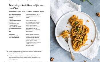 Těstoviny s květákovo-dýňovou omáčkou