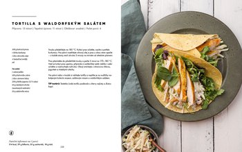 Tortilla s waldorfským salátem