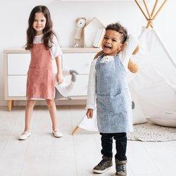 Dětská zástěra MagicLinen – modrá (4–7 let)