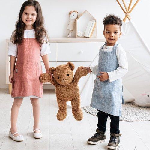 Dětská zástěra MagicLinen – růžová (2–4 roky)