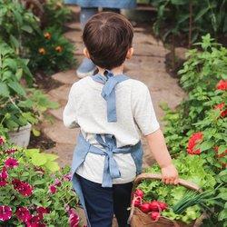 Dětská zástěra MagicLinen – modrá (7–10 let)