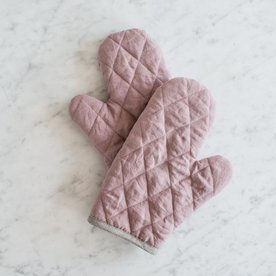 Kuchyňská chňapka klasická MagicLinen – růžová