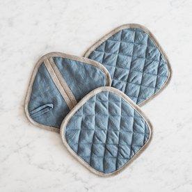 Kuchyňská chňapka čtvercová MagicLinen – modrá