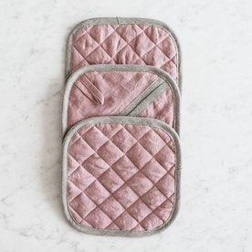 Kuchyňská chňapka čtvercová MagicLinen – růžová