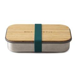Svačinová krabička BLACK+BLUM Appetit 900ml - nerez/bambus - modrá