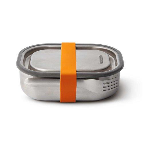 Svačinová krabička BLACK+BLUM Steel 600ml - oranžová