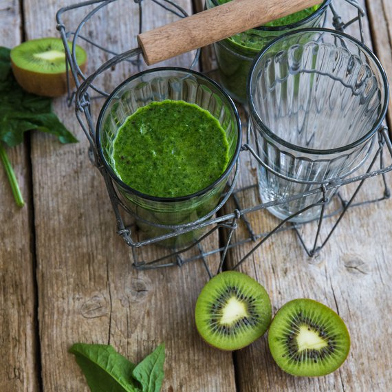 Špenátové smoothie s kiwi