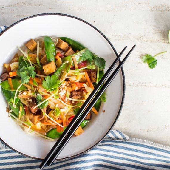 Rýžové nudle s tofu