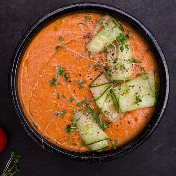 Osvěžující rajčatové gazpacho