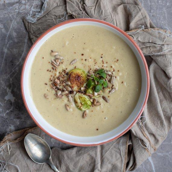 Jemná krémová polévka s kapustou