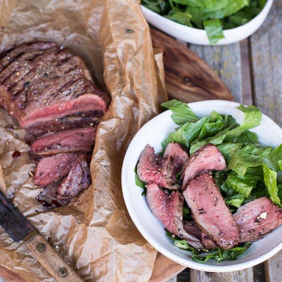 Steak se salátem