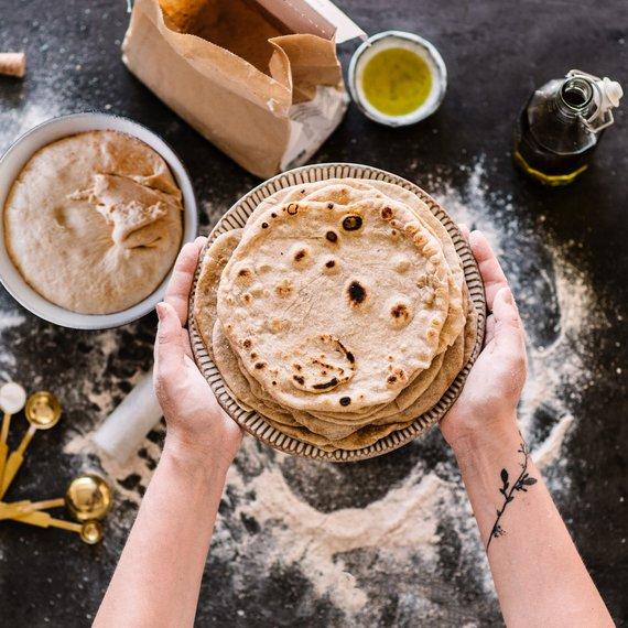 Celozrnné tortilly - základní recept