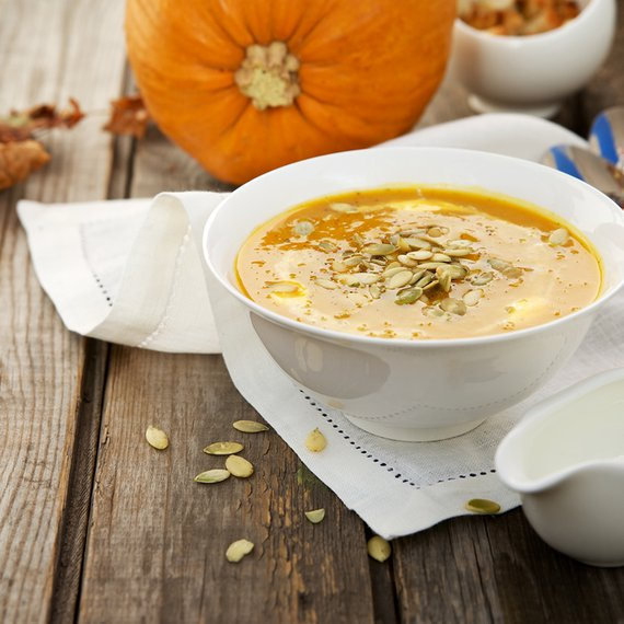 Dýňová polévka s pohankou