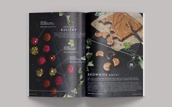 Datlové kuličky a brownies měsíčky