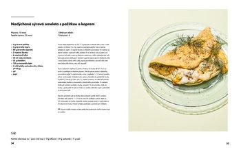Nadýchaná sýrová omeleta s koprem a pažitkou
