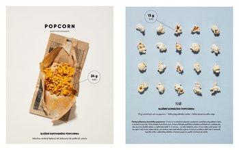 Popcorn pod mikroskopem