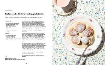 Proteinové buchtičky s vanilkovým krémem