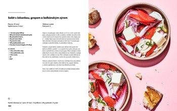 Salát s čekankou, grepem a balkánským sýrem