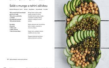 Salát s mungo a tahini zálivkou