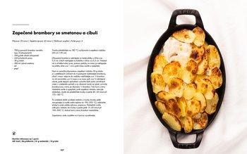 Zapečené brambory se smetanou a cibulí