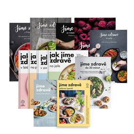 Jíme zdravě – kompletní sada 12 kuchařek